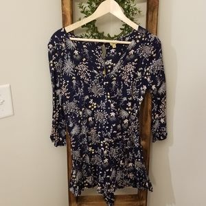 True Craft Pants - Floral plunge neck button back romper